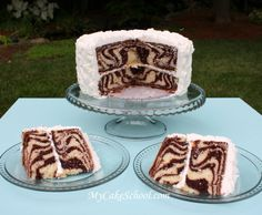 super easy!  Zebra stripes inside your cake...