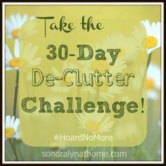30-Day De-Clutter Challenge- Sondra Lyn at Home