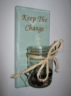 Shabby Chic Laundry Room Decor Laundry Room Change Jar Hand Crafted Shabby Chic Sconce Shabby Chic Jar Laser Engraved