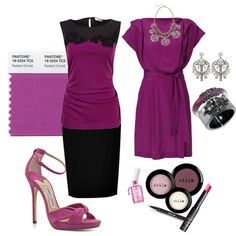 Looks inspired by Pantone's color of 2014 - Radiant Orchid