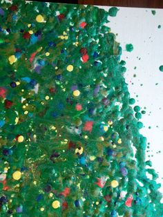 Melted Crayon Art, Christmas Tree Abstract
