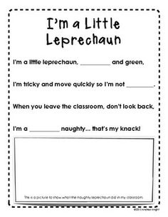 """Sample page from """"THE LUCK O' THE LEARNING {ST. PATRICK'S DAY LITERACY FUN}"""" - TeachersPayTeachers.com  (18 pages, $2)"""