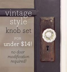 A vintage glass doorknob DIY for under $14!
