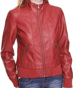 Leatherette jacket from Forever 21