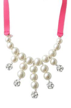 Stella & Dot Pearl Olivia Bib Necklace & Bracelet Set