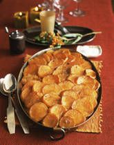 Scalloped Potatoes With CheeseTopping