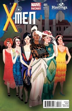 When the men are on the front of covers you always see them in full uniform ready for combat. Here are the women in the X Men showed all dolled up and glamorous in dresses increasing the stereotype of women just being there for show.