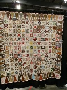 """""""Nancy's Dear Jane"""" by Nancy Ritter, Oakley, California.  """"It has been a 4 1/2 year journey making Dear Jane and another year being hand quilted by the Amish.  It was a great diversion through a long illness from which I have recovered."""""""