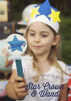 Printable star crowns and wands for a Star Party! from Love the Day