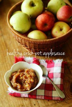 Healthy Crock Pot Applesauce