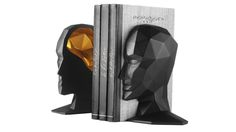 Knowl B Bookends -Black & Gold