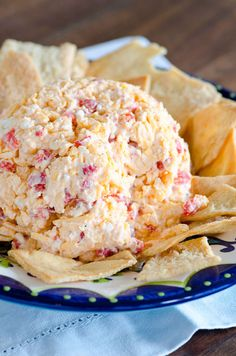 Greek Pimento Cheese - a twist on the traditional southern pimento cheese spread, using Greek yogurt and feta!