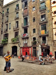 The magical streets of Barcelona in the Gotic district.