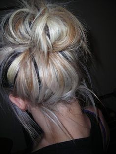 If I was to ever go back to blonde it would be just like this...  Light blonde with hints of brown and black