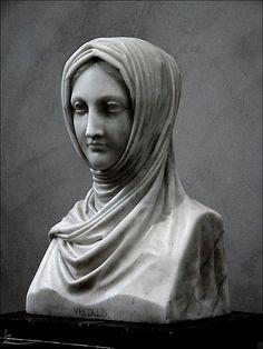 """Vestal virgins: """"Vestal Virgin"""", 1820–21, Antonio Canova. Marble. The J. Paul Getty Museum"""