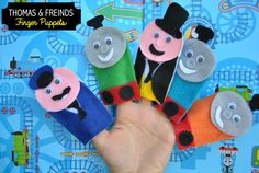 Thomas & Friends Finger Puppet Tutorial by Crayon Box Chronicles. Choo! Choo!