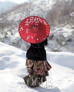 vogue, fashion, asian beauti, vogu korea, snowflakes