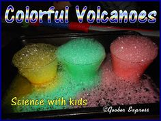 Colourful Volcanoes! A fun and easy science experiment for kids. My daughter loves to do them over and over and over again!    #science #experiments #kids #fun