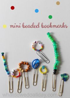 Make super cute mini beaded bookmarks! Plus, some awesome chapter books to use them with!