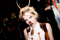 HALLOWEEN: Girl in Hunted Deer Costume at Motor City on the Lower East Side, NYC by eatmydesign, via Flickr