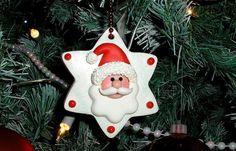 Santa Clay Ornament