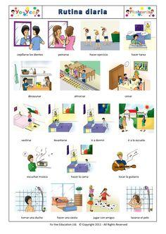 Daily Routines Flashcards in Spanish  http://www.yo-yee.com/es/spanish-step-up-flashcards/30-rutina-diaria.html