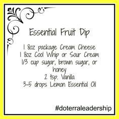 Get your oils & #free gifts: http://frugalg33k.com/frugal-g33k-1?category=Specials #doterra #essentialoils doterra essentialoil, doterra oil, essenti fruit, essential oils, doterra recipe, doterra food, fruit dips, fruitdip, essenti oil