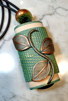 Handmade polymer clay inro by Ernie Hendrix clay vessel, clay special, polym clay, clay iii, polymer clay, clay stuff