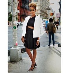White & black street style