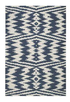 Uzbek rug by Genevieve Gorder in Bokrum Blue