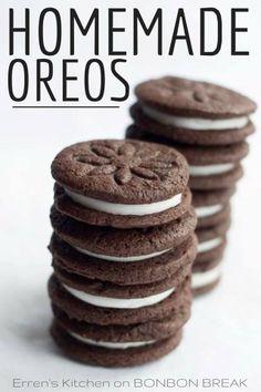 Homemade Oreo Cookies by Erren's Kitchen --> OMYUM.