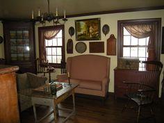 living rooms, couch, coloni live, primit decor, favorit antiqu, coloni decor, front window, live room, curtain