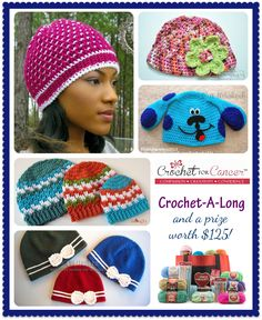 https://www.facebook.com/HooksofHope  Crochet for Cancer - Crochet-A-Long and $125 Prize from Red Heart Yarns!
