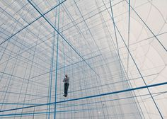 Numen/For Use creates 3D grid of ropes inside inflatable installation