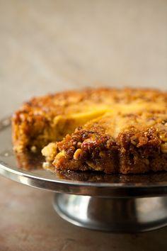Bourbon Walnut Cornmeal Cake