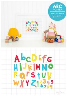 FREE ABC Poster - perfect for the play room! Download on { lilluna.com }