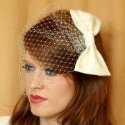 veil with bow veil idea, veils, pretti veil, hair accesori