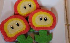 Super Mario Fire Flower Cookies
