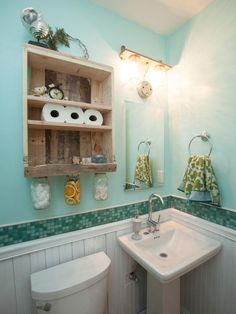 Silver Team: Powder Room, After - Flipping the Block: Tour the Finished Bathrooms  on HGTV