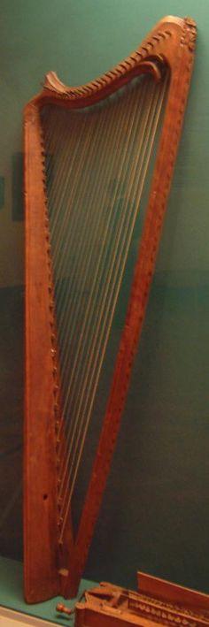 Hofburg harp (Vienna harp) at the Hofburg Museum, Vienna.