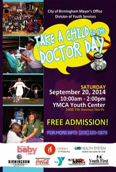 Free health screenings for children, 10a-2p Sat. 9/20/14 at YMCA Youth Center