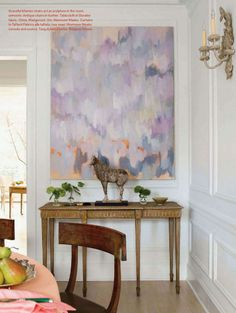 Purple abstract art