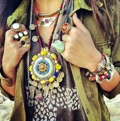 bohemian jewels- this is so me.. haha people think I'm a flower child but I just have a different view of what's beautiful, doesn't mean I'm wrong or they're right. Its just who I am, I'm happy so u should be happy for me :)