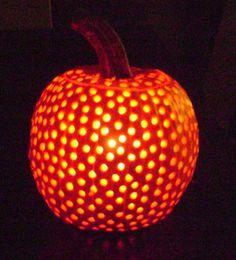 Drill a pumpkin?! So cool.