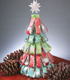 do this with Christmas Paper from Years Past!