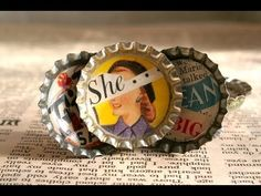 How to Make Bottlecap Magnets with a Vintage Twist! - YouTube