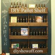 Geo's Bar:  DIY Pallet Shelf Tutorial