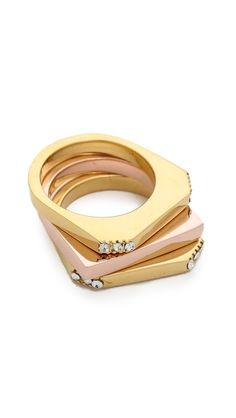 Pretty stacking rings. Pretty great price, too.