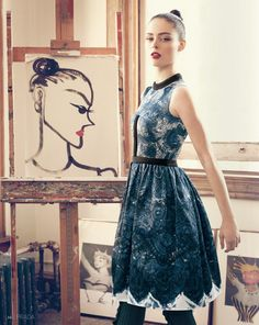 Coco Rocha Has Artsy Fun in Nordstrom's Latest Designer Catalog