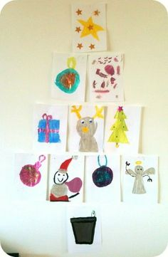 Christmas tree wall art...